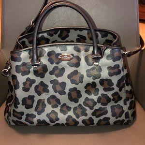 Coach leopard pattern cross shoulders bag